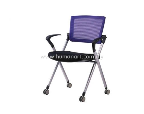 AEXIS 1 FOLDING MESH CHAIR C/W CASTOR & ARMREST ACL 228
