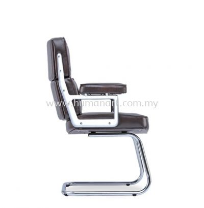 MODY DIRECTOR VISITOR LEATHER CHAIR C/W CHROME CANTILEVER BASE