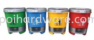 Plastic Recycle Round Pedal Bin Rubbish Pail Hygiene and Cleaning Tools