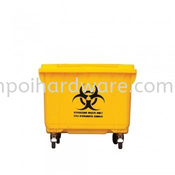 Bioharzard Garbage Bin 660L Rubbish Pail Hygiene and Cleaning Tools