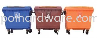 Recycle Mobile Rubbish Bin 660L (3 in 1)  Rubbish Pail Hygiene and Cleaning Tools