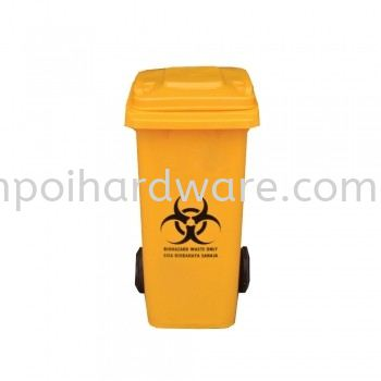 Bioharzard Garbage Bin 120liter Rubbish Pail Hygiene and Cleaning Tools