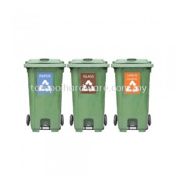 Recycle Mobile Garbage Bin With Pedal