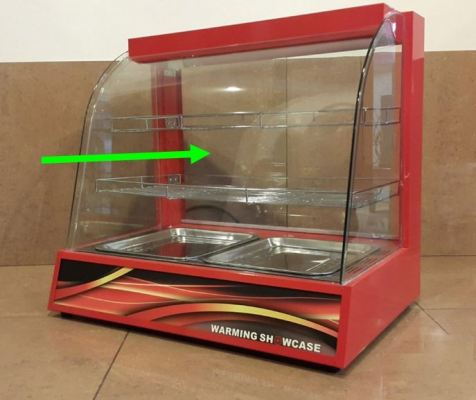 Front Glass only -WS-808 Food Display Warmer ID31568