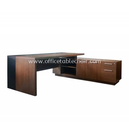 PARCO EXECUTIVE DIRECTOR OFFICE TABLE C/W WOODEN BASE WITH SIDE CABINET (INNER)