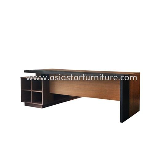 PARCO EXECUTIVE DIRECTOR OFFICE TABLE C/W WOODEN BASE WITH SIDE CABINET (FRONT) - director office table Sungai Buloh | director office table Manufacturer | director office table Direct Factpry Price