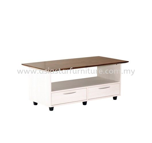 TEZAR RECTANGULAR COFFEE TABLE (RUBBER WOOD TOP) - Top 10 Most Popular Director Office Table | Director Office Table Balakong | Director Office Table Mahkota Cheras | Director Office Table Puchong