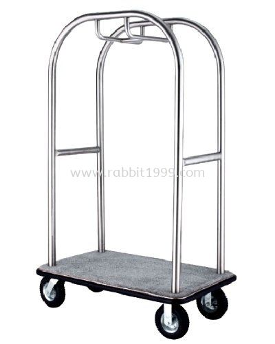 STAINLESS STEEL BIRDCAGE STYLING CART - hairline finish - LD-BCT-413/SS