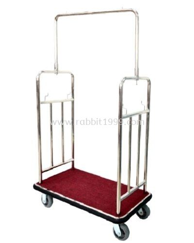 STAINLESS STEEL BAGGAGE TROLLEY