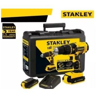 Stanley SBD201D2D-B1 18V Cordless 13mm Brushless Drill Driver With 2pcs Batteries & 1pc Charger FOC