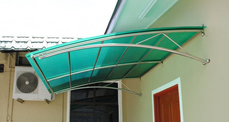 Green Color Awning