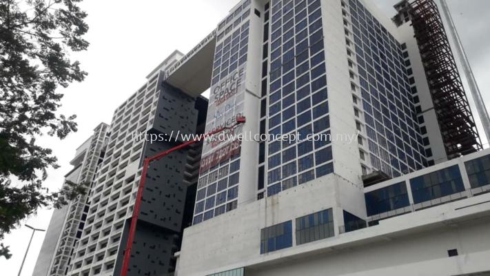 Giant banner & mesh tarpaulin installed at Cyberjaya