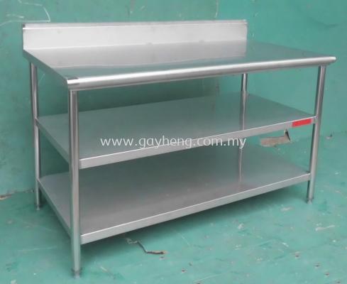 Stainless Steel Table with Blacksplash����(����Χ��)
