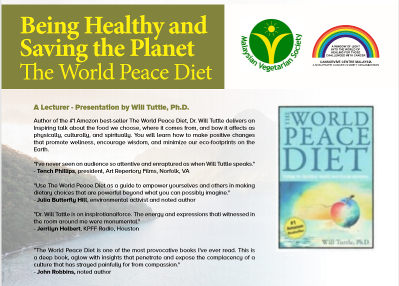 Being Healthy and Saving the Planet - The World Peace Diet December 2019 Year 2019 Past Listing