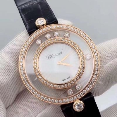 Chopard 32mm Happy Diamonds with 18k Rose Gold