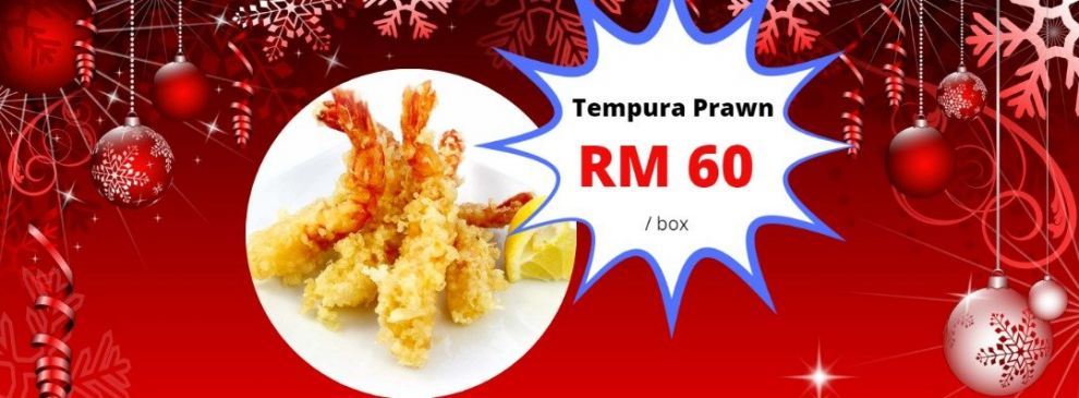 Tempura Prawn offer RM60/box