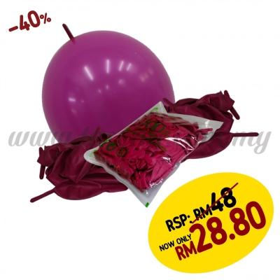 12inch Pastel Link Balloons - Ruby 100pcs (B-12SRL-PT11)