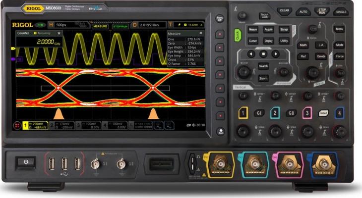 Rigol MSO8204 - 4 Channel / 2 GHz Digital Oscilloscope