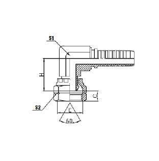 551 BSP Female Cone Compact Elbow