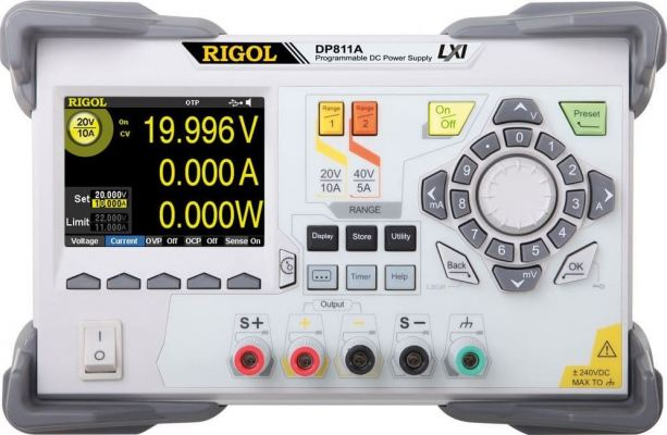 Rigol DP811A Dual Range 200 W Single Output Power Supply