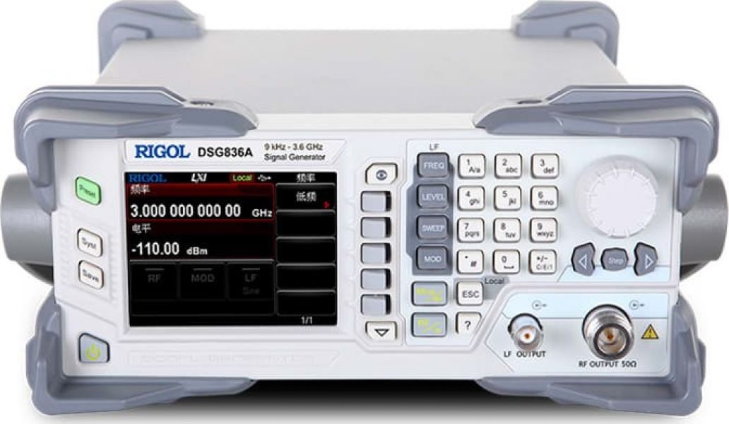 Rigol DSG836A - RF Signal Source from 9 kHz to 3.6 GHz with IQ Modulation