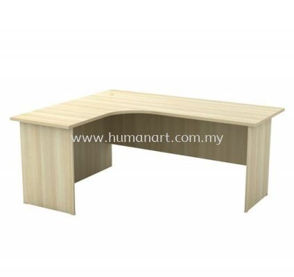 6' x 5' L-SHAPE TABLE WITH WOODEN BASE TABLE EXL 652 (FULL BORAS ASH)