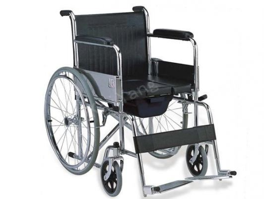 Steel Standard Commode Wheelchair