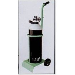 Steel Stand Oxygen Cylinder with Trolley