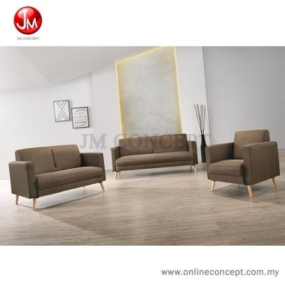 JM Concept CS1 Lucky Sofa Set 1+2+3 Seater (Solid Wood Leg) Blue/Grey/Brown