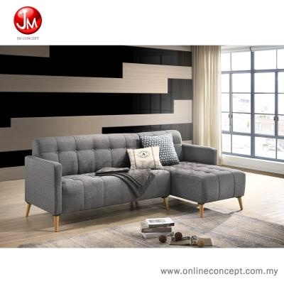 JM Concept Maple L Shape Sofa Set (GREY)