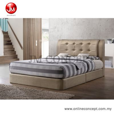 JM Concept Choco Queen Size Bed (Gold)