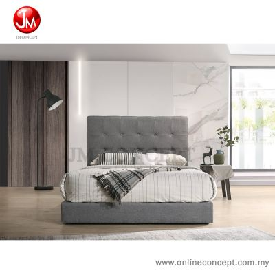 JM Concept Bouton Queen/King Bed (Grey��