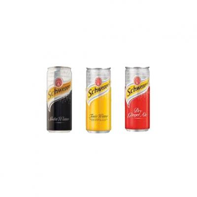 Schweppes Soda Water, Tonice & Ginger Ale