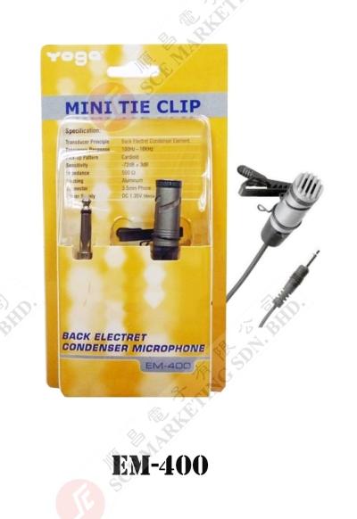 MINI TIE CLIP CONDENSER MICROPHONE YOGA EM-400