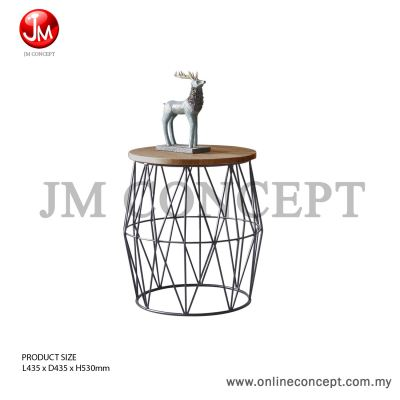 JM Concept Quarry 50 Coffee Table Metal Design (Small)