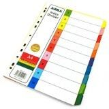 ABBA PAPER 10 COLOUR INDEX DIVIDER