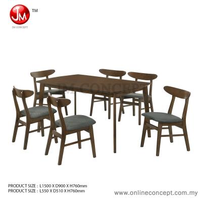JM Concept Fudge Dining Set (1+6)