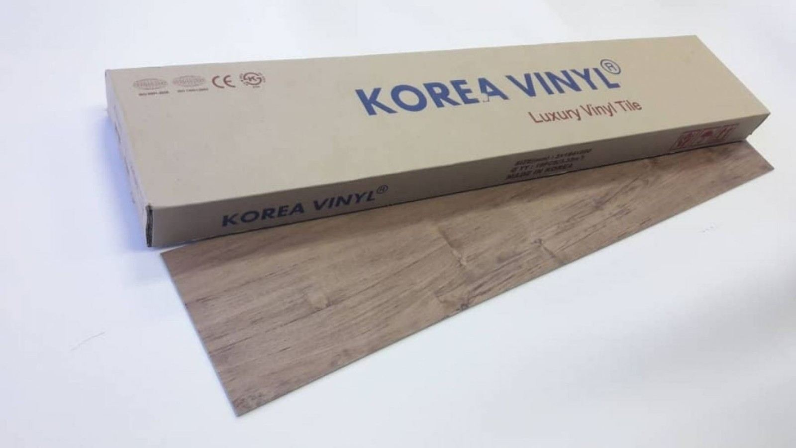 (KV-1905) Korea Luxury Vinyl Flooring 3mm - Nougat Cypress