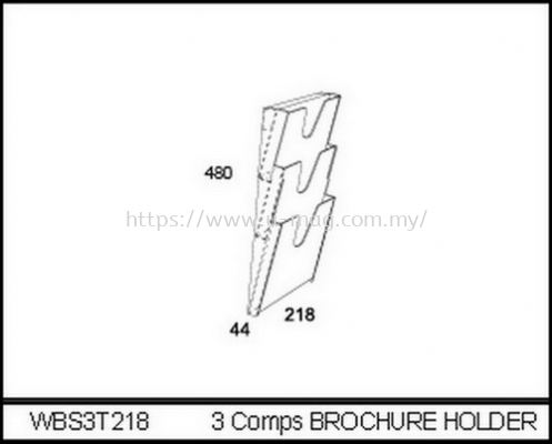 WBS3T218 3 COMPS BROCHURE HOLDER