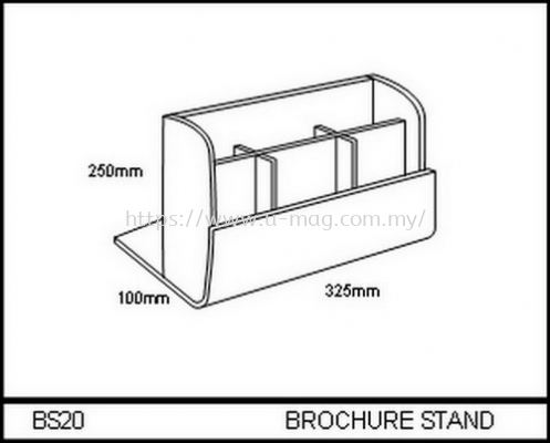 BS20 BROCHURE STAND