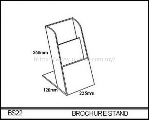 BS22 BROCHURE STAND