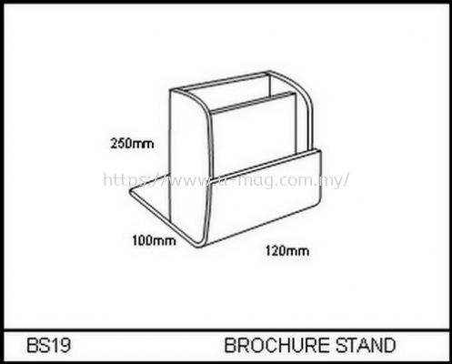 BS19 BROCHURE STAND