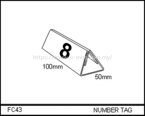FC43 NUMBER TAG