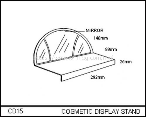 CD15 COSMETIC DISPLAY STAND