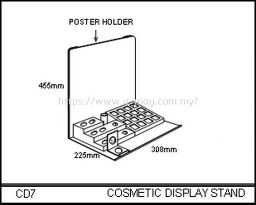 CD7 COSMETIC DISPLAY STAND
