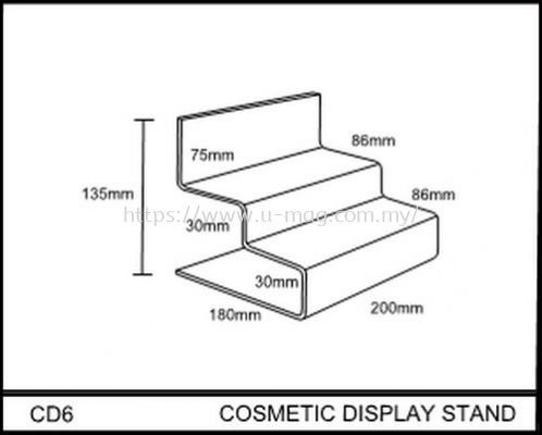CD6 COSMETIC DISPLAY STAND
