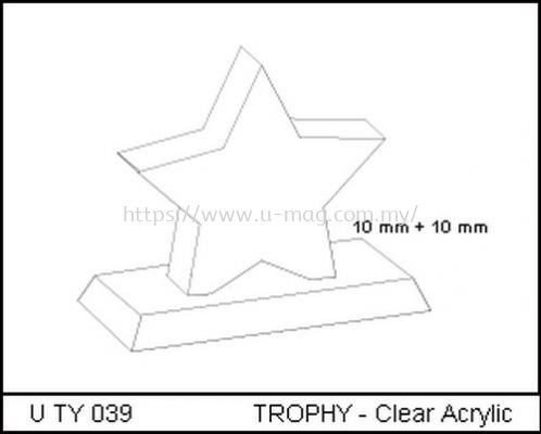 U TY 039 TROPHY - Clear Acrylic