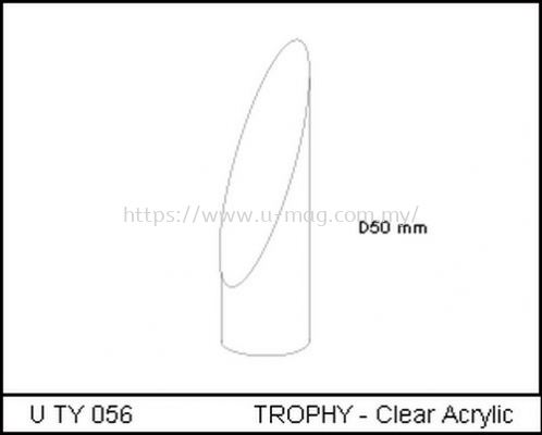 U TY 056 TROPHY - Clear Acrylic