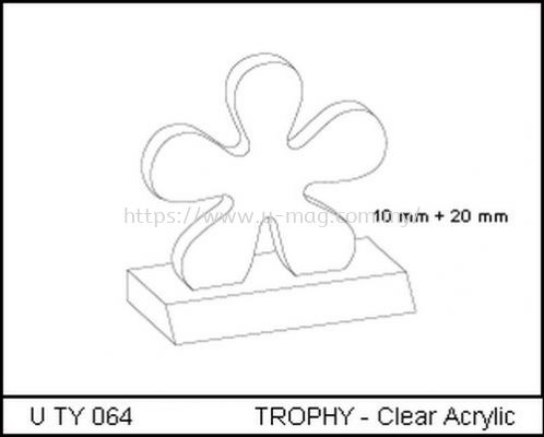 U TY 064 TROPHY - Clear Acrylic