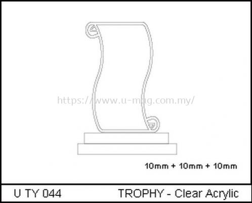 U TY 044 TROPHY - Clear Acrylic
